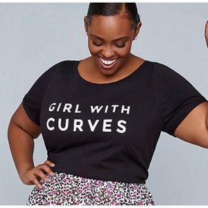 Lane Bryant Girl with Curves Tee